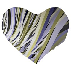 Wavy Ribbons Background Wallpaper Large 19  Premium Heart Shape Cushions