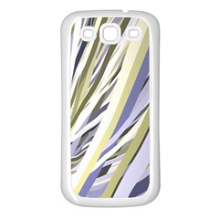 Wavy Ribbons Background Wallpaper Samsung Galaxy S3 Back Case (White)