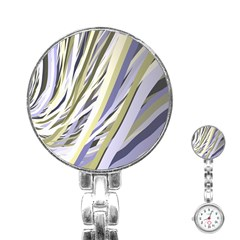 Wavy Ribbons Background Wallpaper Stainless Steel Nurses Watch