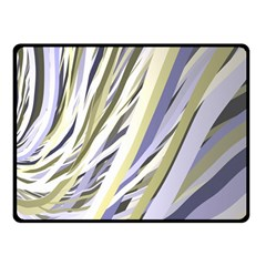 Wavy Ribbons Background Wallpaper Double Sided Fleece Blanket (small)