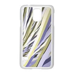 Wavy Ribbons Background Wallpaper Samsung Galaxy S5 Case (white)