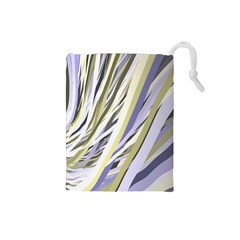Wavy Ribbons Background Wallpaper Drawstring Pouches (small)