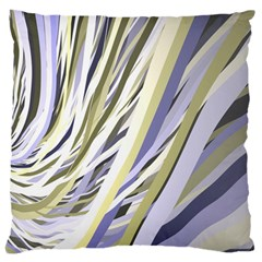 Wavy Ribbons Background Wallpaper Large Flano Cushion Case (one Side)