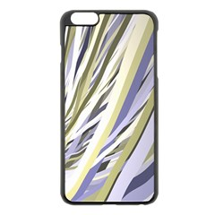 Wavy Ribbons Background Wallpaper Apple iPhone 6 Plus/6S Plus Black Enamel Case