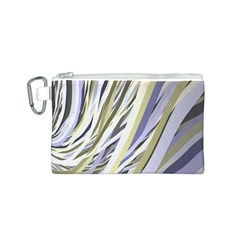 Wavy Ribbons Background Wallpaper Canvas Cosmetic Bag (S)