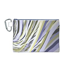 Wavy Ribbons Background Wallpaper Canvas Cosmetic Bag (m)