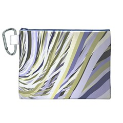 Wavy Ribbons Background Wallpaper Canvas Cosmetic Bag (xl)