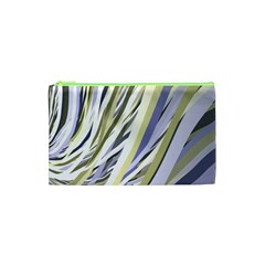 Wavy Ribbons Background Wallpaper Cosmetic Bag (xs)