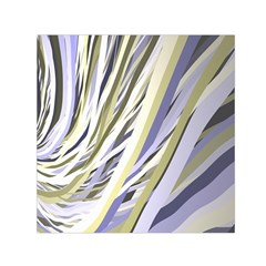 Wavy Ribbons Background Wallpaper Small Satin Scarf (Square)