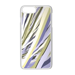 Wavy Ribbons Background Wallpaper Apple iPhone 7 Plus White Seamless Case