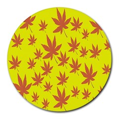 Autumn Background Round Mousepads
