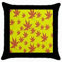 Autumn Background Throw Pillow Case (black)