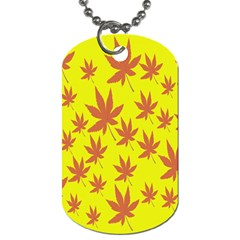 Autumn Background Dog Tag (one Side)