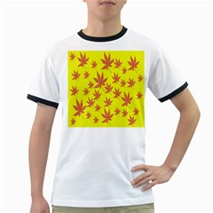 Autumn Background Ringer T Shirts