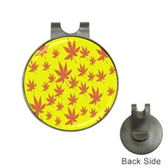 Autumn Background Hat Clips with Golf Markers