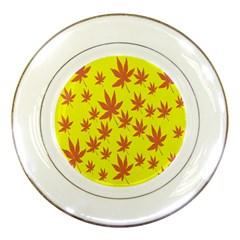 Autumn Background Porcelain Plates