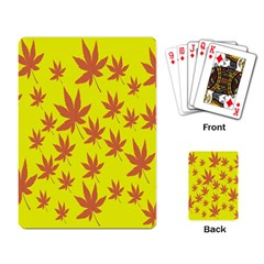 Autumn Background Playing Card