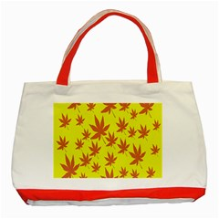 Autumn Background Classic Tote Bag (Red)
