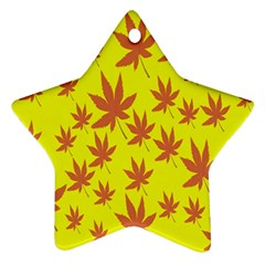 Autumn Background Star Ornament (two Sides)