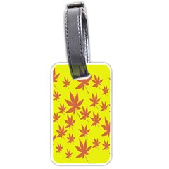 Autumn Background Luggage Tags (One Side)