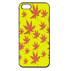 Autumn Background Apple Iphone 5 Seamless Case (black)