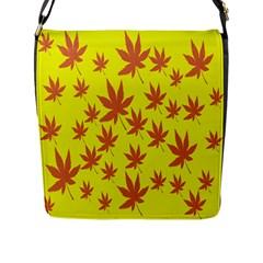 Autumn Background Flap Messenger Bag (L)