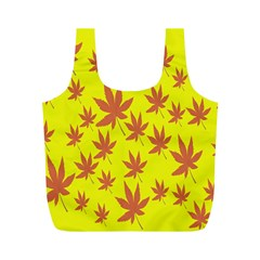 Autumn Background Full Print Recycle Bags (M)
