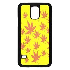 Autumn Background Samsung Galaxy S5 Case (black)