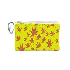 Autumn Background Canvas Cosmetic Bag (S)