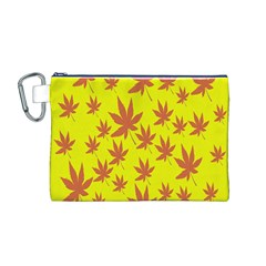 Autumn Background Canvas Cosmetic Bag (M)