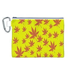 Autumn Background Canvas Cosmetic Bag (l)