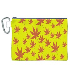 Autumn Background Canvas Cosmetic Bag (xl)