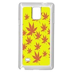 Autumn Background Samsung Galaxy Note 4 Case (White)