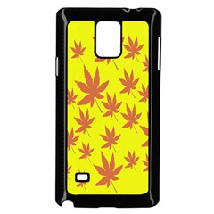 Autumn Background Samsung Galaxy Note 4 Case (Black)