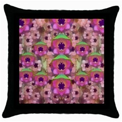 It Is Lotus In The Air Throw Pillow Case (Black)