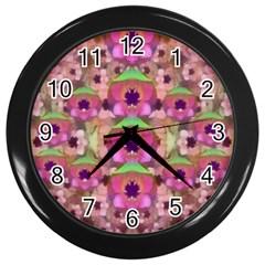 It Is Lotus In The Air Wall Clocks (Black)