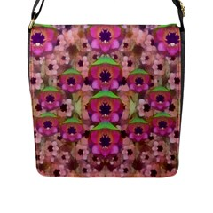 It Is Lotus In The Air Flap Messenger Bag (l)