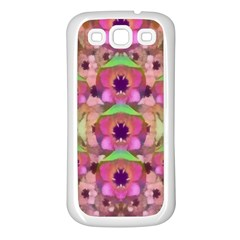 It Is Lotus In The Air Samsung Galaxy S3 Back Case (White)