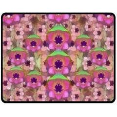 It Is Lotus In The Air Double Sided Fleece Blanket (medium)