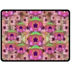 It Is Lotus In The Air Double Sided Fleece Blanket (Large)