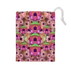 It Is Lotus In The Air Drawstring Pouches (Large)