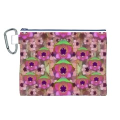 It Is Lotus In The Air Canvas Cosmetic Bag (L)