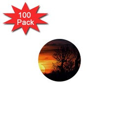 Sunset At Nature Landscape 1  Mini Buttons (100 pack)