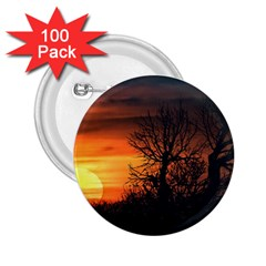 Sunset At Nature Landscape 2.25  Buttons (100 pack)
