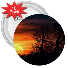 Sunset At Nature Landscape 3  Buttons (10 pack)