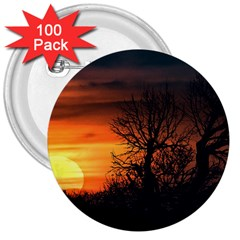 Sunset At Nature Landscape 3  Buttons (100 pack)