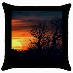 Sunset At Nature Landscape Throw Pillow Case (Black)