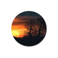 Sunset At Nature Landscape Magnet 3  (Round)