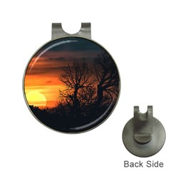 Sunset At Nature Landscape Hat Clips with Golf Markers