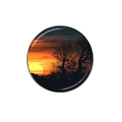 Sunset At Nature Landscape Hat Clip Ball Marker (4 pack)